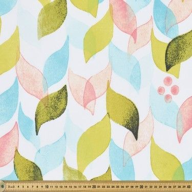 Jess Printed Thermal Curtain Fabric Multicoloured 150 cm