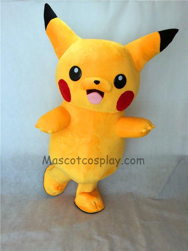 Cute Japanese Cartoon Pikachu Mascot Costume Pokemon Mascot Costumes