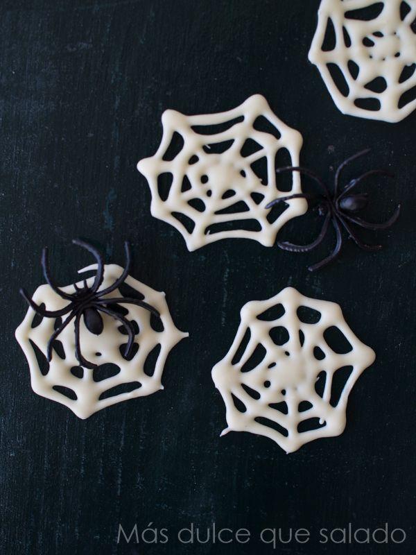 Más dulce que salado: Telas de araña de chocolate