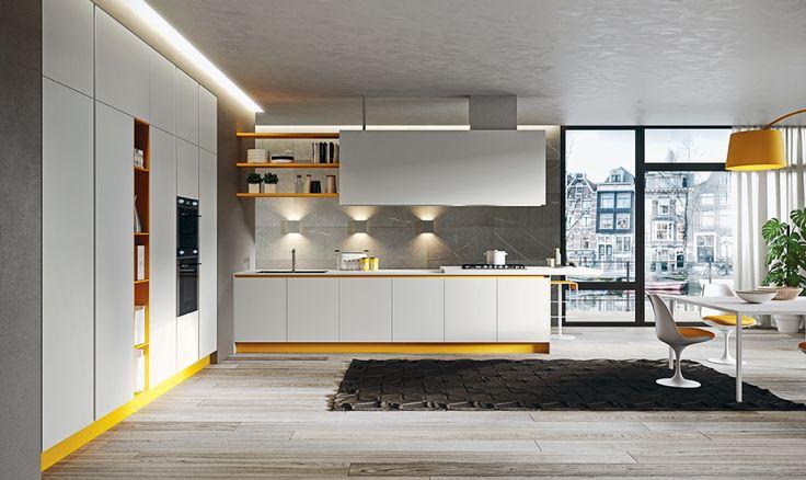 Mobilier bucătărie ARRITAL Cucine, AK_06. Realizabilă integral din FENIX NTM®!   Doar prin INTERNA Mobili