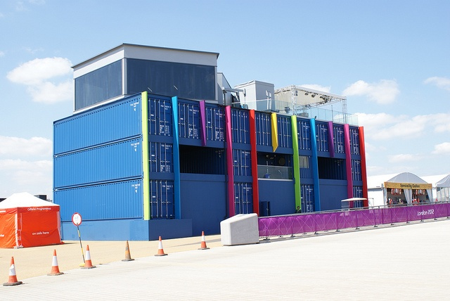 BBC Studio block on top of shipping containers by Paul Hickman, via Flickr