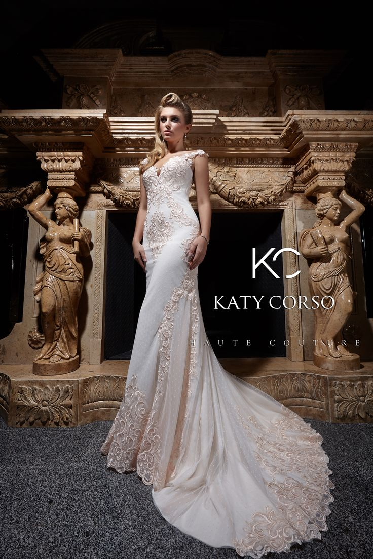Sophisticated dress Candise will create incredible wedding look! #GoldenFlame #KatyCorso #weddingdresses