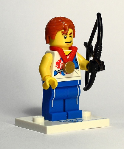 Lego Minifigure 2012 Olympic Archer. No GB medals in archery this time but with Robin Hood to inspire us.....