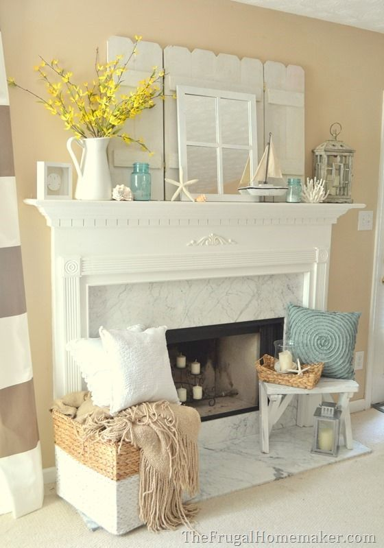 Best 25+ Summer mantle decor ideas on Pinterest | 4th of july ...