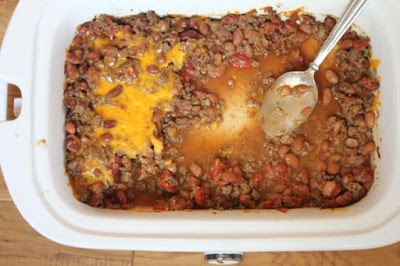 Casserole Crock Saturdays: Crock Pot Beef and Bean Casserole from Lynn's Kitchen Adventures