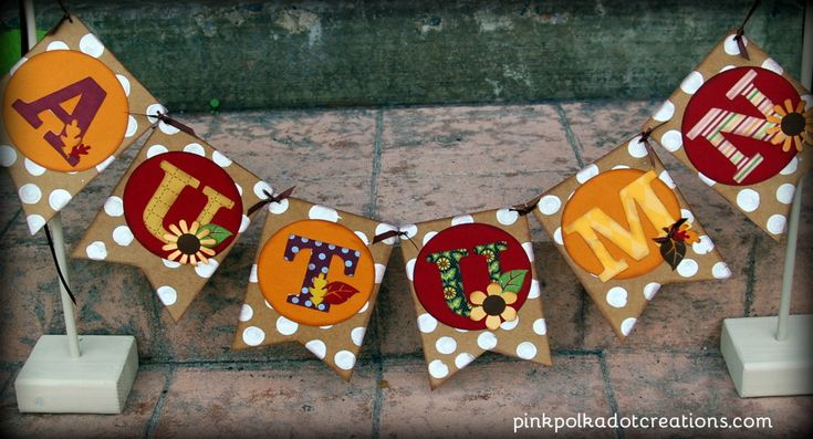 fall banner bunting
