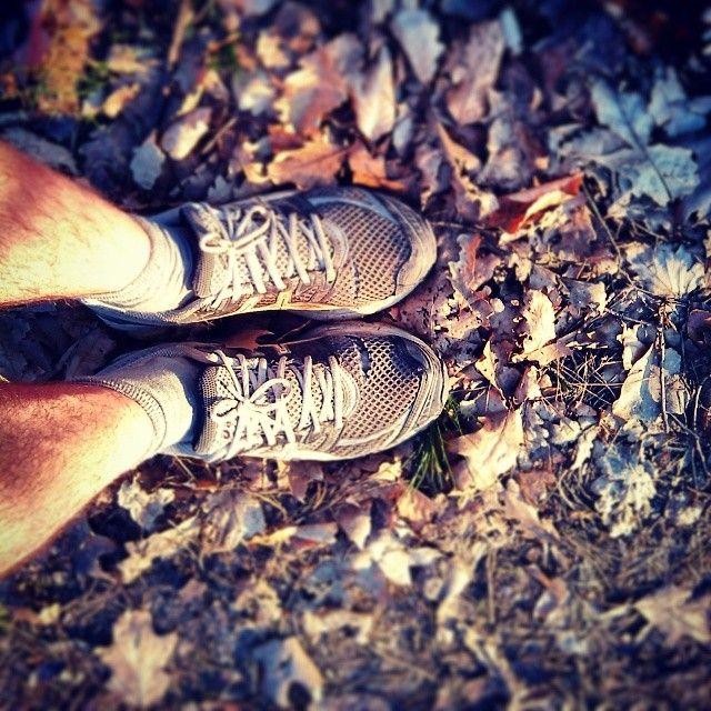 #bieganie #running #run #running #jogging #bieg #marathon #maraton #trening #las #forrest #wood #liście #sport #nogi #fizyka #trening