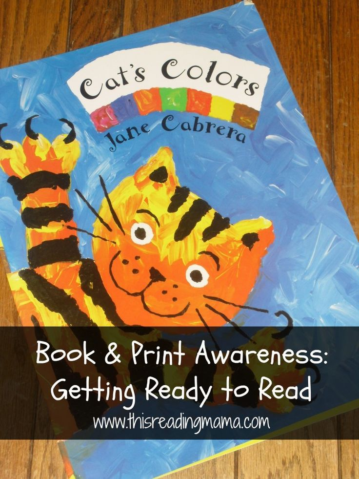 Book and Print Awareness: Getting Ready to Read {This Reading Mama}