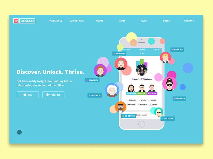 Case Study on designing landing page by Tubik Studio