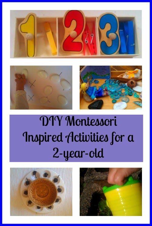 DIY Montessori Inspired Activities for a 2-year-old via Montessori nature blog