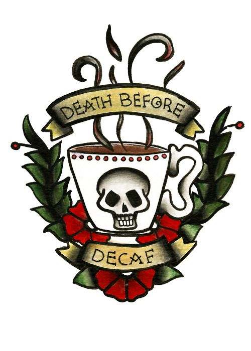 When I win the Lotto...I'd love to own a coffee shop that is tattoo flash themed!