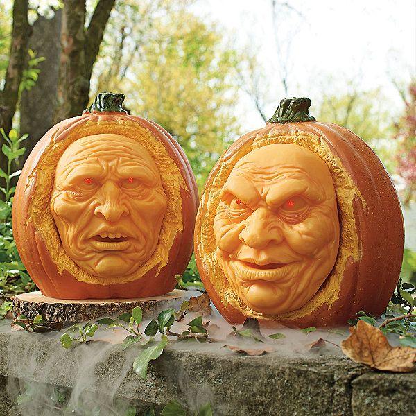 set of two animated interactive jack o lanternskinda disney halloween yard propsoutdoor halloween decorationshalloween