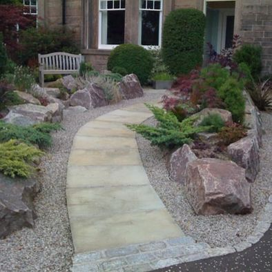 17 best images about jardin seco dry garden xeriscape for Decorative boulders for yard