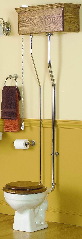 Victorian Pull Chain Watercloset Oak Tank Antique New Bathroom Fixtures Pinterest I