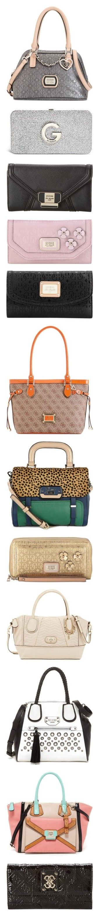 """""""Purses 91"""" by singlemom ❤ liked on Polyvore featuring bags, handbags, hand bags, handbag satchel, satchel purses, vegan leather purses, man bag, wallets, guess bags and guess wallets"""