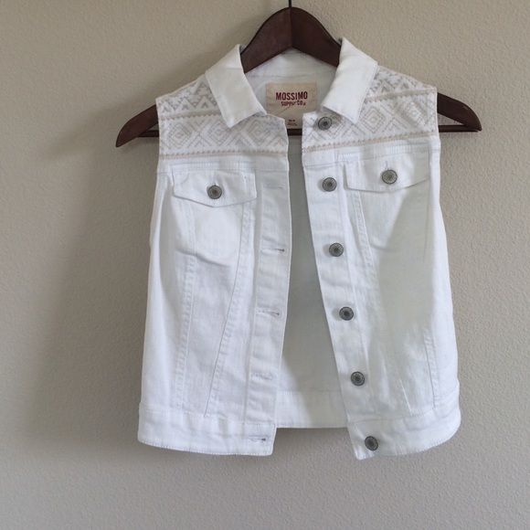 White Jean Vest White Jean Vest from Target. Worn once. Great condition. Mossimo Supply Co Jackets & Coats Vests