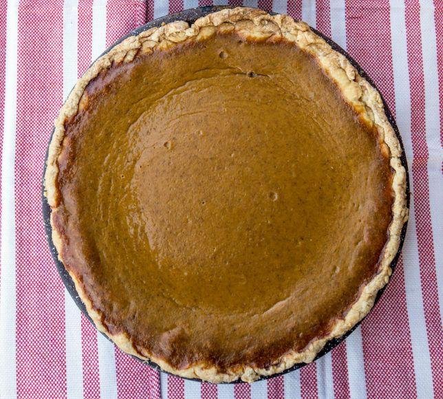 Long Island cheese pumpkin pie