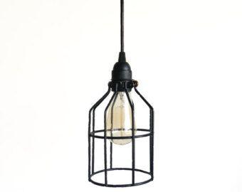 Bottiglia di vetro  industriale pendente di Houselights su Etsy