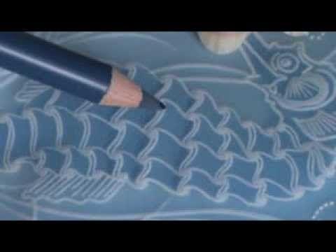 Video Class 4 How to Colour Parchment using Blendable Pencils Seahorse Card - YouTube