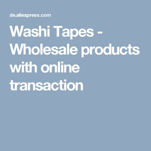 Washi Tapes - Wholesale products with online transaction