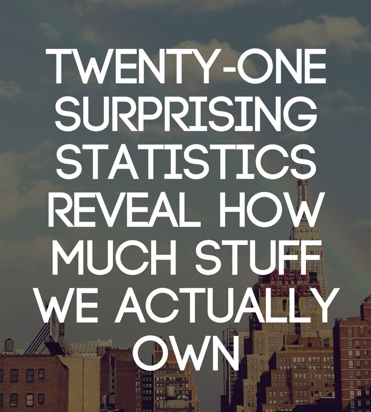 Here are 21 surprising statistics about our clutter that help us understand how big of a problem our accumulation has actually become. 1. There are 300,000 items in the average American home (LA Times). 2. The average size of the American home has nearly tripled in size over the past 50 years (NPR). 3. And still, 1 out of every 10 Americans rent offsite storage—the fastest growing segment of the commercial real estate industry over the past four decades ... #minimalism