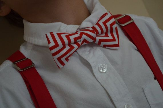 Boys Adjustable Suspenders and Matching Bow Tie by hollysquires #christmas #bowtie