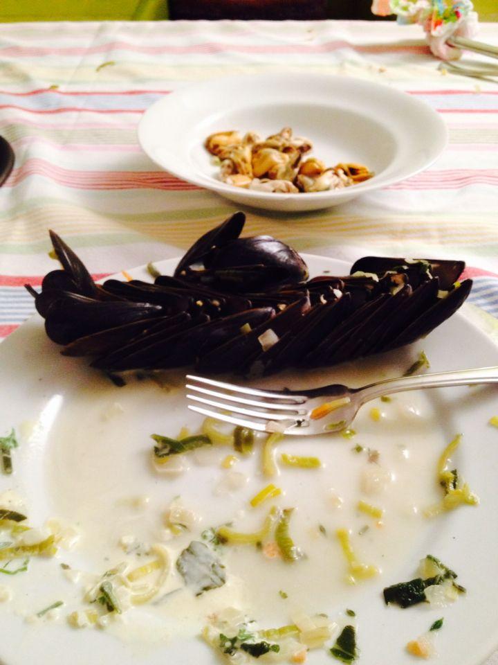 18 oktober  Mosselen eten bij Dineke, heerlijk