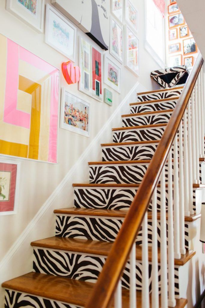 13 Creative Ways To Use Peel And Stick Wallpaper Eclectic Home House Colors House Tours