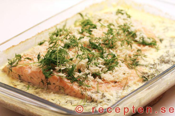 Lättrimmad ugnsbakad lax - Recept på fantastiskt god Lättrimmad Ugnsbakad Lax. Bilder steg för steg!