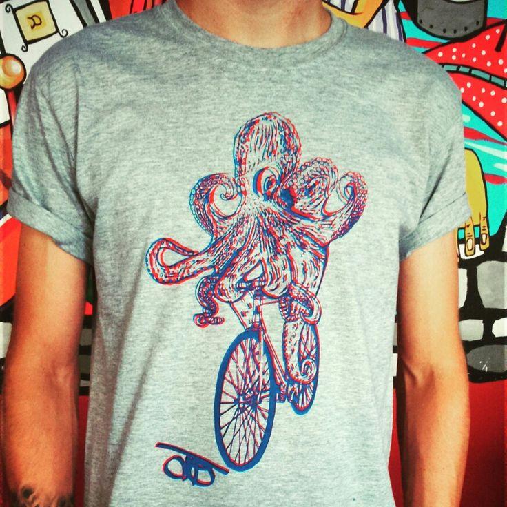 Octopus riding póló mostantól 3D ben is rendelhető!!!!!!