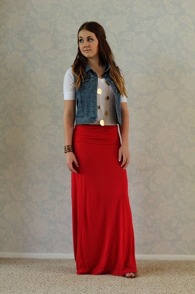 3 4 red dress vest
