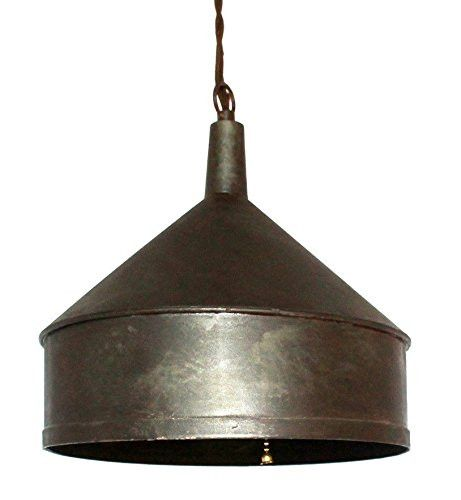 Industrial Vintage Copper Funnel Hanging Pendant Light Rustic Copper Finish