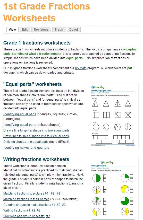 15 besten About K5 Learning Bilder auf Pinterest | Fraktionen ...