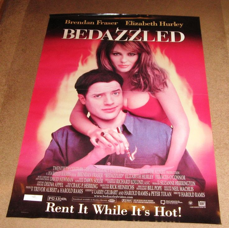 bedazzled movie poster 27x40 used brendan fraser