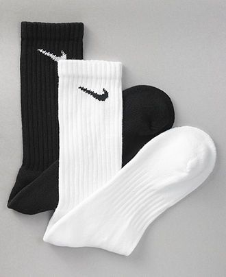 Nike socks-White or Black*_Mc sports or play it again-Size 10 shoe and 1/3-1/2 up the leg