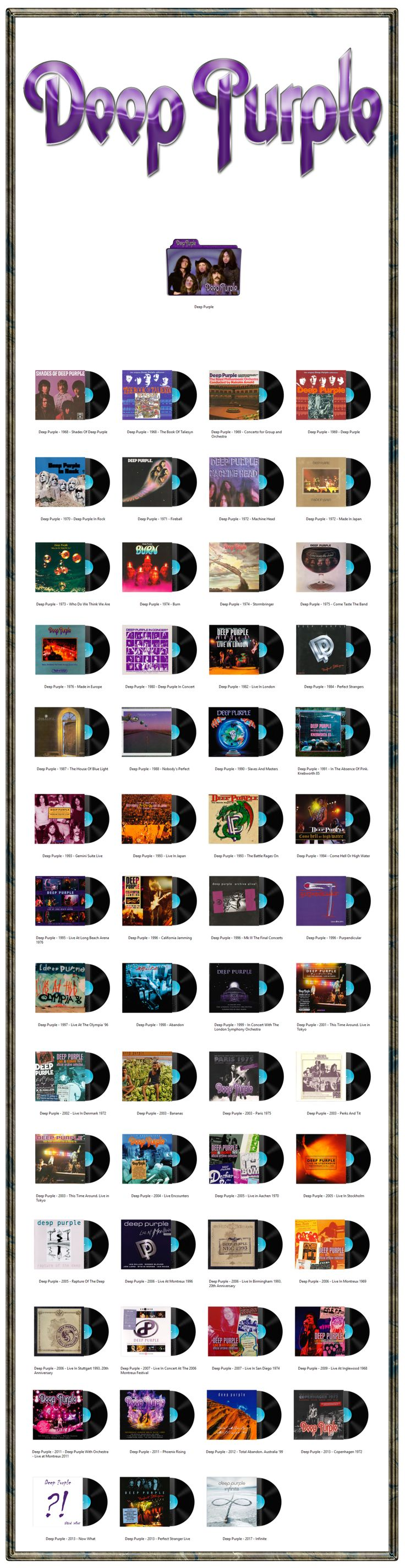 Deep Purple Discography Icons ICO PNG by AlbumArtIcons
