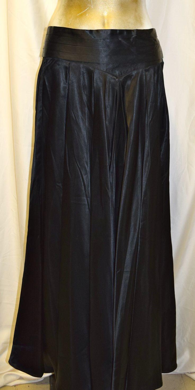 Vintage Studio J Black Long Formal Skirt