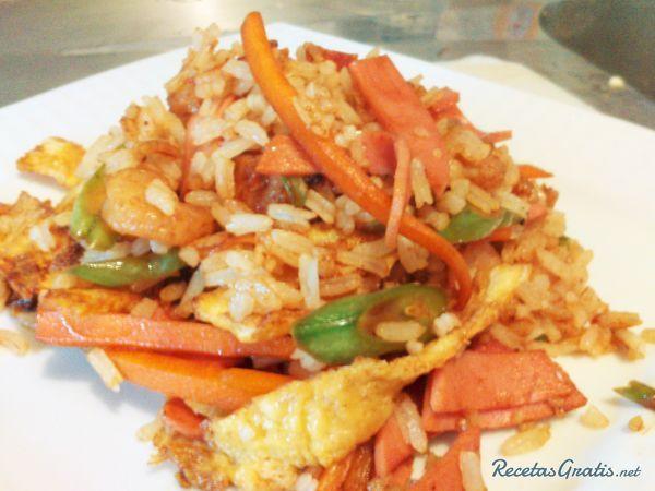 Arroz 3 delicias al wok