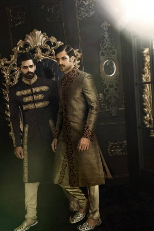 Arsalan Iqbal Groom Sherwani Collection 2014