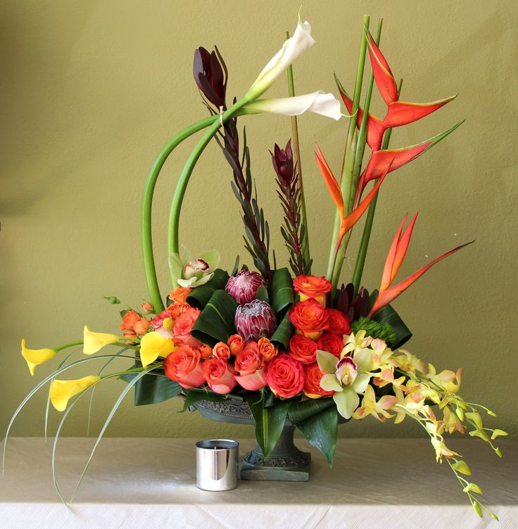 Send the tropical garden bouquet of flowers from Amore dolce flowers in Montebello, CA. Local fresh flower delivery directly from the florist and never in a box!