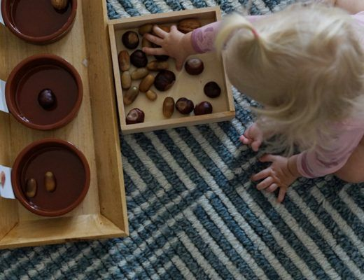 DIY // ein herbstliches Sortierspiel für kleine Entdecker