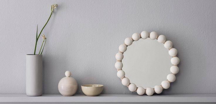 Unique design, natural materials, assembled by hand in Finland. The mirrow is designed by Pauliina Aarikka. www.aarikka.com