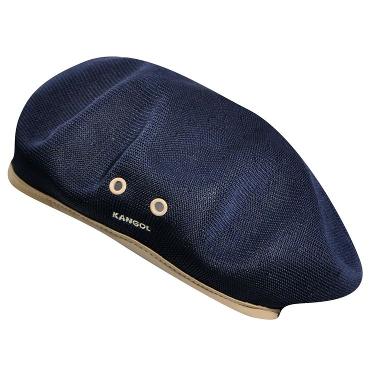 MONTY™ Tropic Beret// Field Marshal Montgomery (Monty) wore a Kangol® Beret as he commanded his troops in World War II. This traditional Kangol® military beret in Tropic, with a faux leather band & metal eyelets, has made the transition from the battlefield to the streets.
