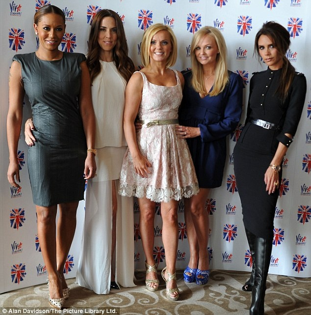 """""""Spice Girls"""" (L-R) Melanie Brown, Melanie Chisholm, Geri Halliwell, Emma Bunton and Victoria Beckham reunite for the """"Viva Forever!"""" Launch at St. Pancras Renaissance Hotel, June 2012 ~ Following months of speculation whether or not they would join forces again, all five members of the Spice Girls got together to announce details of a West End musical based on their songs. The Spice Girls went back to where it all began, London's St Pancras Hotel, where they filmed their Wannabe video in…"""