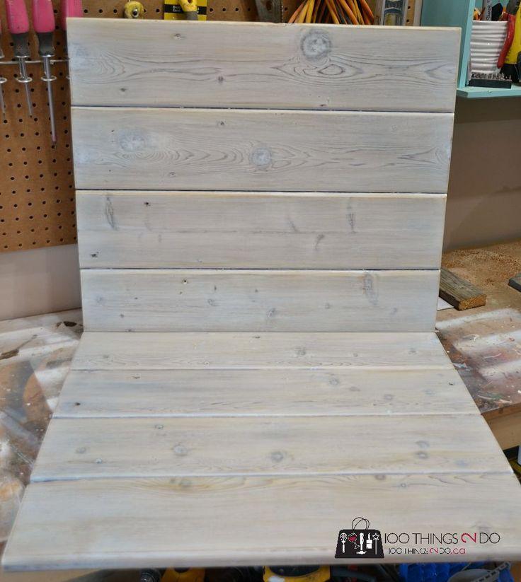 Whitewashing Wood