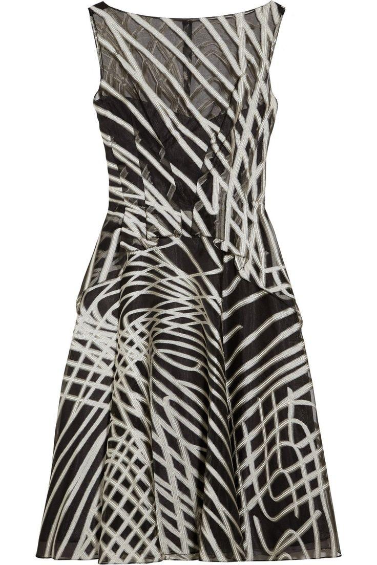 patterned organza dress