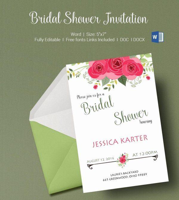 Microsoft Office Wedding Invitation Template Fresh 50 Microsoft Invitation Wedding Invitation Templates Bridal Shower Invitations Templates Invitation Template
