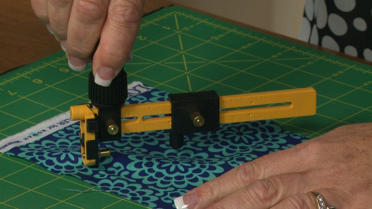 Learn how to use a fabric circle cutter that will make cutting circles quick and easy.  Make circles in different sizes to use on your next project.