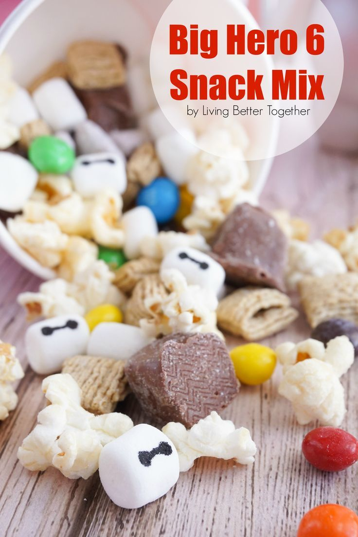 This Big Hero 6 Snack Mix is a sweet combo of treats perfect for enjoying the movie with! Snuggle up this weekend! Available at your nearest Redbox.
