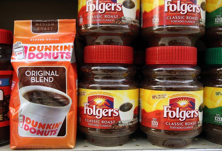 Dunkin' Donuts and Folgers Coffee owned by Smuckers